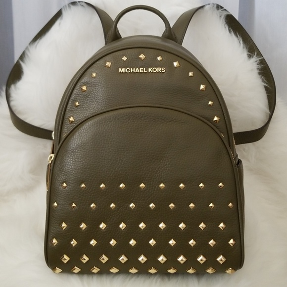 4006e653f16f ... coupon for michael kors medium studded leather backpack 28241 cf50f